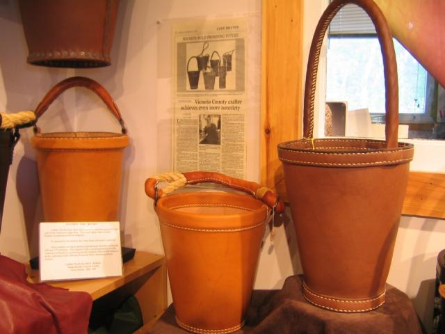 Leather buckets